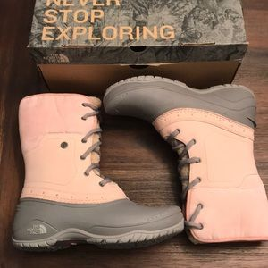 The North Face Shellista Roll-Down Pink Boots